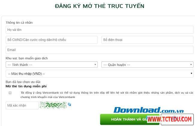 Dang ky the ATM Online 2 Info Hướng dẫn mở thẻ ATM, đăng ký tài khoản ATM Online