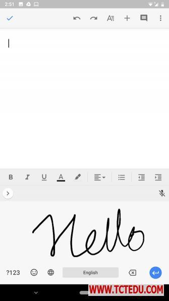 android typing handwriting 2 6 cách gõ nội dung trên điện thoại Android