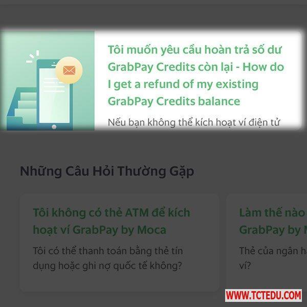 cach lay lai tien tu tai khoan grabpay 3 Cách lấy lại tiền từ tài khoản GrabPay
